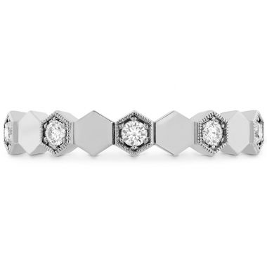 Hearts on Fire HOF Hex Eternity Band in 18K White Gold