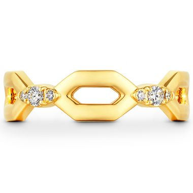 Hearts on Fire 0.09 ctw. HOF Open Regal Band in 18K Yellow Gold