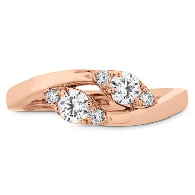 Hearts on Fire 0.4 ctw. HOF Regal Two Diamond Ring in 18K Rose Gold