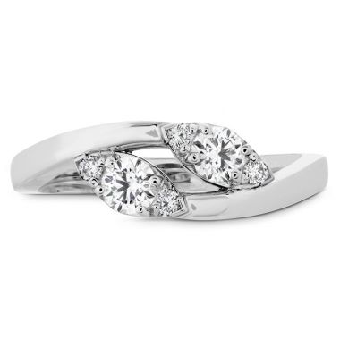 Hearts on Fire 0.4 ctw. HOF Regal Two Diamond Ring in Platinum