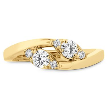 Hearts on Fire HOF Regal Two Diamond Ring in 18K Yellow Gold