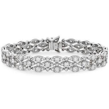 Hearts on Fire 9.1 ctw. HOF Regal Triple Row Bracelet in 18K White Gold