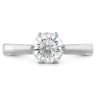 Hearts on Fire HOF Signature 6 Prong Solitaire Engagement Ring in 18K White Gold