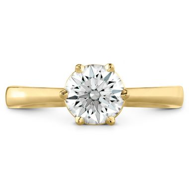Hearts on Fire HOF Signature 6 Prong Solitaire Engagement Ring in 18K Yellow Gold