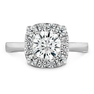Hearts on Fire 0.1 ctw. HOF Signature Custom Halo Engagement Ring in 18K White Gold