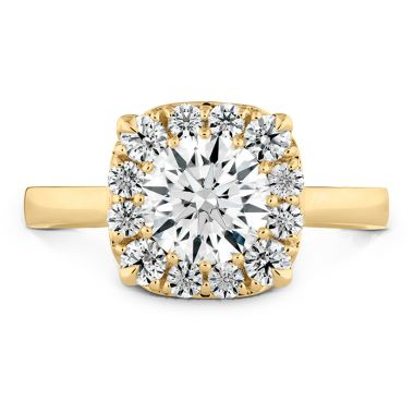 Hearts on Fire 0.28 ctw. HOF Signature Custom Halo Engagement Ring in 18K Yellow Gold