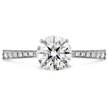 Hearts on Fire 0.1 ctw. HOF Signature Engagement Ring-Diamond Band in Platinum