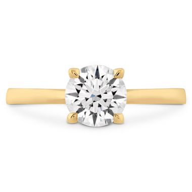 Hearts on Fire HOF Signature Solitaire Engagement Ring in 18K Yellow Gold