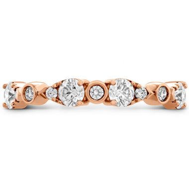 Hearts on Fire 0.6 ctw. HOF Teardrop Bezel Diamond Band in 18K Rose Gold