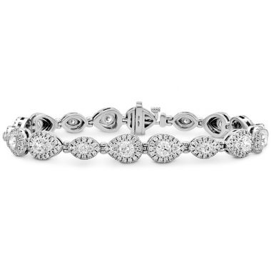 Hearts on Fire 4.8 ctw. HOF Teardrop Halo Line Bracelet in 18K White Gold