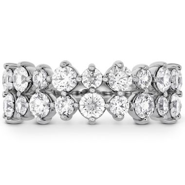 Hearts on Fire 1.95 ctw. HOF Timeless Two Row Ring in 18K White Gold