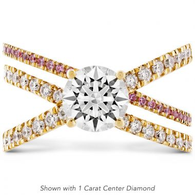 Hearts on Fire 18k Yellow Gold Harley Engagement Ring