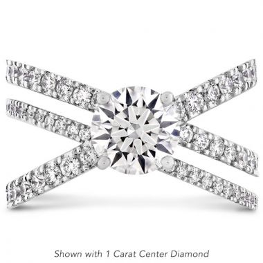 Hearts on Fire Platinum Harley Engagement Ring