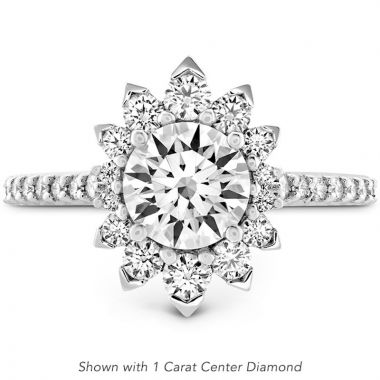 Hearts on Fire Platinum Behati Halo Engagement Ring