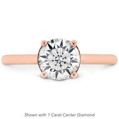 Hearts on Fire 0.01 ctw. Sloane Silhouette Engagement Ring in 18K Rose Gold