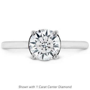 Hearts on Fire 0.01 ctw. Sloane Silhouette Engagement Ring in 18K White Gold