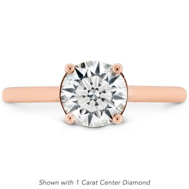 Hearts on Fire Sloane Silhouette Engagement Ring-Sapphires in 18K Rose Gold