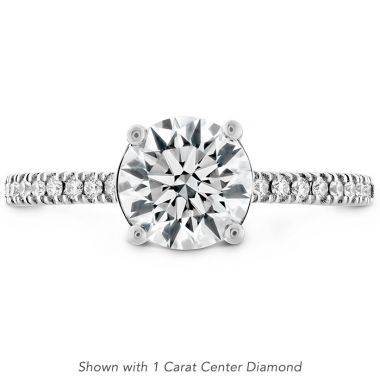 Hearts on Fire 0.18 ctw. Sloane Silhouette Engagement Ring Diamond Band in Platinum