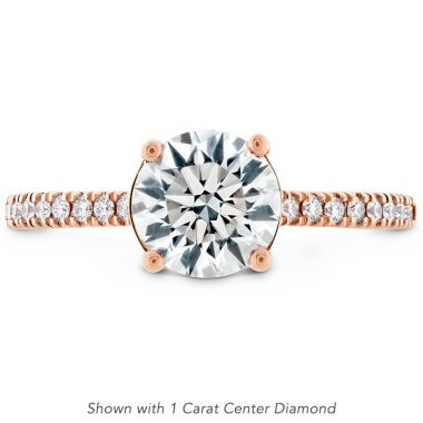 Hearts on Fire 0.18 ctw. Sloane Silhouette Engagement Ring Diamond Band-Sapphires in 18K Rose Gold
