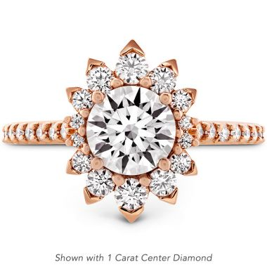 Hearts on Fire 0.33 ctw. Behati Say It Your Way Oval Engagement Ring in 18K Rose Gold