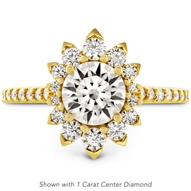 Hearts on Fire 0.44 ctw. Behati Say It Your Way Oval Engagement Ring in 18K Yellow Gold