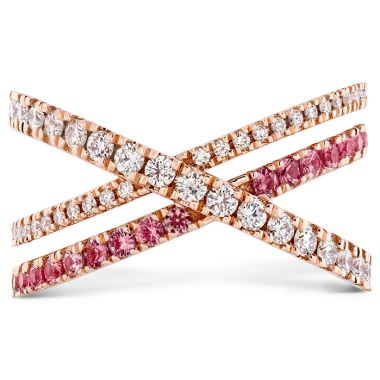 Hearts on Fire 0.45 ctw. Harley Wrap Power Band with Sapphires in 18K Rose Gold