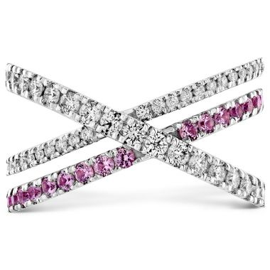 Hearts on Fire 0.45 ctw. Harley Wrap Power Band with Sapphires in 18K White Gold