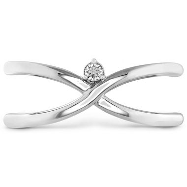 Hearts on Fire 0.03 ctw. Love Code - Love Wrap Band in Platinum
