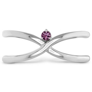 Hearts on Fire Love Code - Love Wrap Band with Sapphires in Platinum