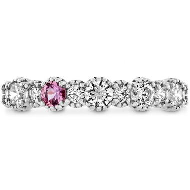 Hearts on Fire 0.57 ctw. Behati Beaded Band with Sapphires in 18K White Gold