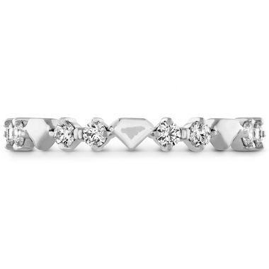 Hearts on Fire 0.21 ctw. Behati Bold Shapes Band in 18K White Gold