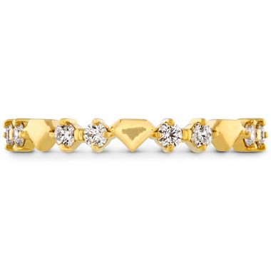 Hearts on Fire 0.21 ctw. Behati Bold Shapes Band in 18K Yellow Gold