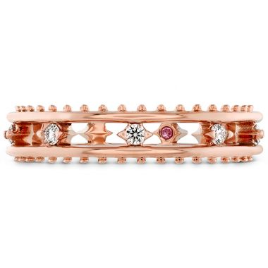 Hearts on Fire 0.14 ctw. Sloane Picot Floating Diamond Band in 18K Rose Gold