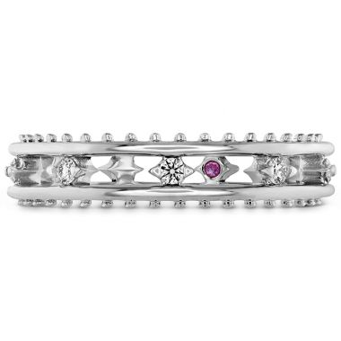 Hearts on Fire 0.13 ctw. Sloane Picot Floating Diamond Band in 18K White Gold
