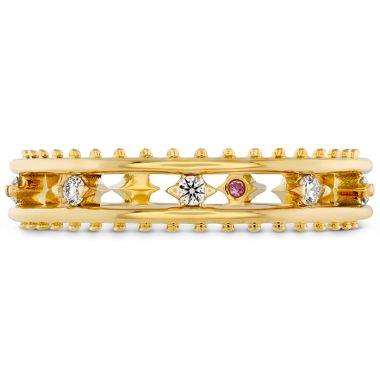 Hearts on Fire 0.15 ctw. Sloane Picot Floating Diamond Band in 18K Yellow Gold