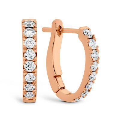 Hearts on Fire 0.3 ctw. Mini Hoop Graduated Earrings in 18K Rose Gold