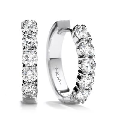 Hearts on Fire 1.3 ctw. Small Mini Hoop Earrings in 18K White Gold