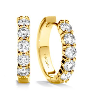 Hearts on Fire 1.85 ctw. Small Mini Hoop Earrings in 18K Yellow Gold