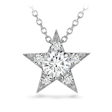 Hearts on Fire 0.7 ctw. Illa Cluster Pendant in 18K White Gold