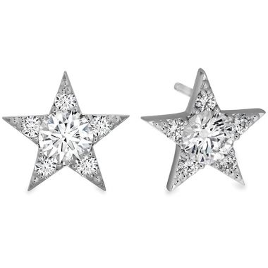 Hearts on Fire 0.65 ctw. Illa Cluster Stud Earrings in 18K White Gold