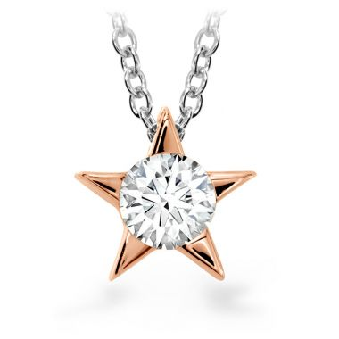 Hearts on Fire 0.15 ctw. Illa Pendant Necklace in 18K Rose Gold
