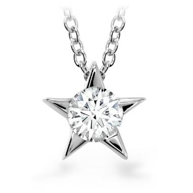 Hearts on Fire 0.25 ctw. Illa Pendant Necklace in 18K White Gold