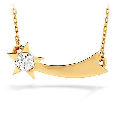 Hearts on Fire 0.15 ctw. Illa Single Diamond Comet Necklace in 18K Rose Gold
