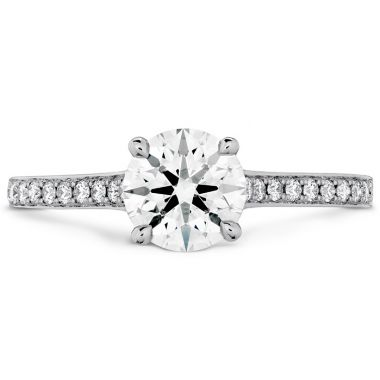 Hearts on Fire 0.7 ctw. Illustrious Engagement Ring-Diamond Intensive Band in 18K White Gold