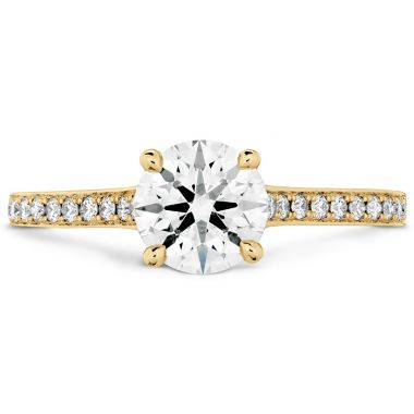 Hearts on Fire 0.5 ctw. Illustrious Engagement Ring-Diamond Intensive Band in 18K Yellow Gold