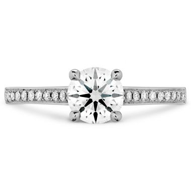 Hearts on Fire 0.15 ctw. Illustrious Engagement Ring-Diamond Band in Platinum