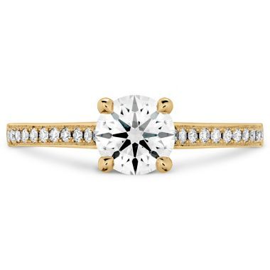 Hearts on Fire 0.1 ctw. Illustrious Engagement Ring-Diamond Band in 18K Yellow Gold