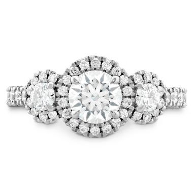 Hearts on Fire 1.05 ctw. Integrity HOF Three Stone Engagement Ring in 18K White Gold