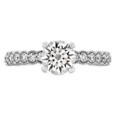 Hearts on Fire 0.35 ctw. Isabelle Milgrain Engagement Ring in Platinum