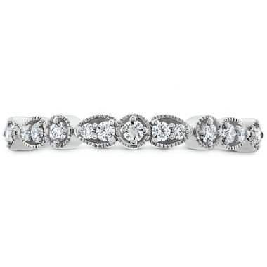 Hearts on Fire 0.18 ctw. Isabelle Teardrop Milgrain Diamond Band in Platinum